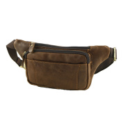 Leather Waist Bum Bags - 2032 Brown - Genuine Leather Bag - Mega Tuscany