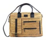 CORK BRIEFCASE w/ Extra Strap ECO-FRIENDLY by Dux Cork GENUINE PORTUGUESE PREMIUM Cork Fabric 100% QUALITY GUARANTEE FREE DELIVERY