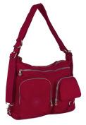 Big Handbag Shop Fabric Zip Pockets Backpack Messenger Shoulder Bag