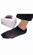 Count of 144 New Retails Black Smooth-Fitting Men's Sewn Bottom Footlet