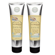A La Maison De Provence Fresh Sea Salt Hand and Body Lotion (Pack of 2) With Shea Butter, Argan Oil and Avocado Oil, 150ml Each