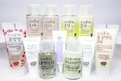 Whamisa Organic Flowers Super Miniature Skin Care set [ Lotion, Toner, Cleanser ] EWG verified