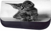 Greyscale Kitten Jacks Outlet TM Nylon-Lined Cosmetic Case