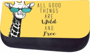 Wild And Free-Hipster Giraffe Jacks Outlet TM Nylon-Lined Cosmetic Case