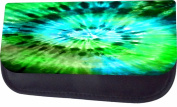 Blue-Green Tie Dye Jacks Outlet TM Nylon-Lined Cosmetic Case