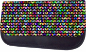 Colourful Chevrons Jacks Outlet TM Nylon-Lined Cosmetic Case