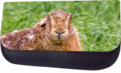 Surprised Rabbit Jacks Outlet TM Nylon-Lined Cosmetic Case