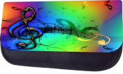 Colourful Clef Musical Design Jacks Outlet TM Nylon-Lined Cosmetic Case