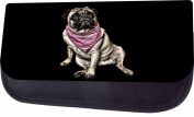 Pug In A Bandana Jacks Outlet TM Nylon-Lined Cosmetic Case
