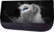 Kitten Looking Up Jacks Outlet TM Nylon-Lined Cosmetic Case