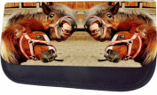 Crazy Horses Jacks Outlet TM Nylon-Lined Cosmetic Case