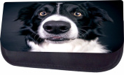 Surprised Border Collie Jacks Outlet TM Nylon-Lined Cosmetic Case