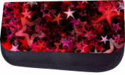 Pink Stars Jacks Outlet TM Nylon-Lined Cosmetic Case