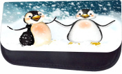 Penguins In The Snow Jacks Outlet TM Nylon-Lined Cosmetic Case