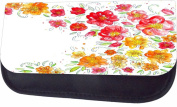 Watercolour Flowers Jacks Outlet TM Nylon-Lined Cosmetic Case