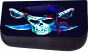 Pirate Skull Jacks Outlet TM Nylon-Lined Cosmetic Case