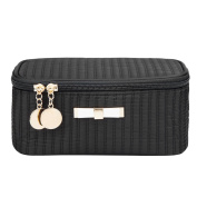 Alsomtec Multi-function Makeup Cosmetic Bag single layer with quality zipper travel Makeup Bag Toiletry Travel Kit