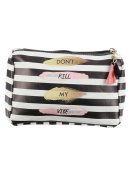 Black Striped Don't Kill My Vibe Cosmetic Makeup Bag or Pouch Wallet