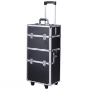 3 in1 Aluminium Rolling Makeup Cosmetic Train Case Wheeled Box