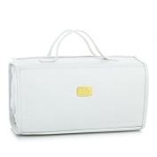 JOY MANGANO Genuine Leather Large Better Beauty Case ~ Classic White