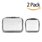 Clear Cosmetics Makeup Bags, Waterproof Plastic Travel Toiletry Organiser Cases
