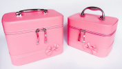 2 Bags/set Makeup Case Cute cosmetic bag Storage Bags Travel Makeup Bag Storage Box With Mirror