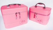 2 Bags/set Makeup Case Cute cosmetic bag Storage Bags Travel Makeup Bag Storage Box With Mirror