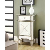 Hawthorne Ave Accent Chest - 29H / Brushed Silver with Mirror