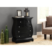 Hawthorne Ave Accent Chest - Black Tiger Veneer Contemporary Style