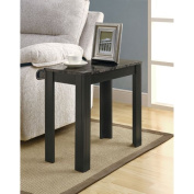Hawthorne Ave Accent Table - Black / Grey Marble