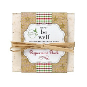 Simply Be Well 100% Natural Hand Crafted Plant Based Moisturising Body Bar Soap (Peppermint Bark) by Simply Be Well