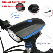 Bicycle HeadLight, Xiaosan USB Rechargeable Speaker Cycling Bicycle Light Riding Oversized Vocal Headlight