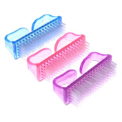 ScivoKaval 9 Pack Hand and Nail brush with Handle, Fingernail Scrubbing Cleaning Brush, Pink Purple and Blue