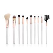 Diolee 10 PCS Makeup Brush Set Premium Synthetic White Foundation Blending Blush Eyeshadow Brush Makeup Brush Kit