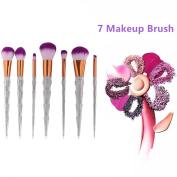 7Pcs Women Hair Makeup Powder Eye Face Eyebrow Cosmetics Make Brushes Set Tool