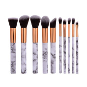 ELINKMALL Makeup Brushes Sets Foundation Brush Beauty Cosmetic Brushes Marble Gold Make Up Tools 10 Pieces