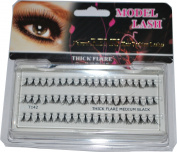 Model Lash Natural Remy Hair Fashion Lashes Thick Flare Medium Black by Model Lashes