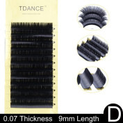TDANCE Premium D Curl 8-18mm Semi Permanent Individual Eyelash Extensions 0.05-0.25mm Thickness Silk Volume Lashes Professional Salon Use