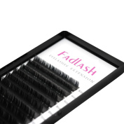 FADLASH Flat Ellipse Eyelashes Extension Natural Soft Lighter C Curl 0.20mm Mixed Length In One Tray Individual Fake Lashes Salon Use