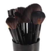 DRQ Makeup Brush Set| Pro Cosmetic-24pc Studio Pro Makeup Make Up Cosmetic Brush Set Kit with Faux Leather Case - For Eye Shadow, Blush, Eyeliner, Etc.