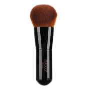 Foundation Kabuki Brush, Angled Face Makeup Brush for Blending Liquid Powder BB Cream Buffing Bronzer Make Up Portable Brush Cosmetic Beauty Tool
