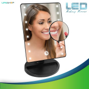 LifeShop Touch Screen Bright Vanity Table Top Makeup Mirror with LED Lights [Batteries Not Included]