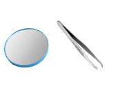 Cosmetic Beauty Makeup Magnifying Mirror x15 Round with Slanted Tweezer