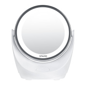 Spaire Makeup Mirror 1X / 7X Magnification LED USB Rechargeable Vanity Mirror Double-Sided with 360 Degree Rotation for Travel, Cosmetic, Skin Care