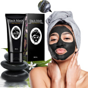 Blackhead Remover Mask, Acne Face Peel off Purifying Mask, Pore Mud Deep Cleanse Bamboo Charcoal Remover 60ml by ELFINA