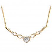 Revoni - 9ct Yellow Gold Diamond Necklace
