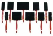 10 Pcs Foam Paint Brush Sponge 10cm 7.6cm 5.1cm 2.5cm Oil Stain Polyurethane Craft Touch Up