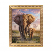 NDJK Elephant 5D Diamond Embroidery Painting Cross Stitch DIY Art Craft Home Decor