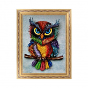 NDJK 5D Diamond Embroidery Owl Animal Painting Cross Stitch DIY Home Decor