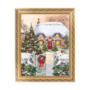 NDJK 5D Snowscape Diamond Embroidery Painting Cross Stitch DIY Craft Home Wall Decor